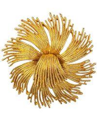Susan Caplan 1960s Vintage Monet Starburst Brooch - Metallic