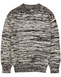 OAMC Monochrome Knitted Cotton Sweater - Black