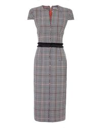 Amanda Wakeley - Prince Of Wales Fitted Dress - Lyst