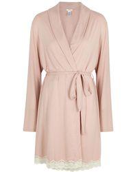 Eberjey Lady Godiva Blush Stretch-jersey Robe - Pink