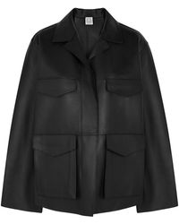 Totême Black Leather Jacket