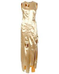 Rejina Pyo - Laura Panelled Satin Midi Dress - Lyst