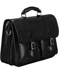Maxwell Scott Bags Mens Fine Black Leather 15 Laptop Bag Satchel