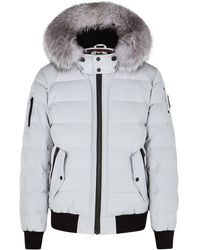 Moose Knuckles Scotchtown Fur-trimmed Bomber Jacket - Grey