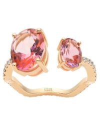 Atelier Swarovski - Arc-en-ciel Ring Pink Topaz - Lyst