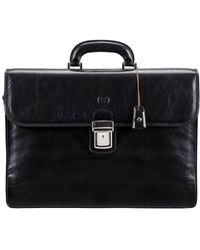 Maxwell Scott Bags Black Men's Briefcase In Black