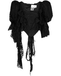 Natasha Zinko Black Stretch-lace Corset Top