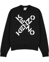 KENZO Black Logo Cotton-blend Sweatshirt