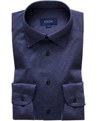 Eton of Sweden - Navy Jersey Shirt - Slim Jersey Fit - Lyst