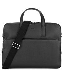 BOSS by Hugo Boss Crosstown Black Leather Briefcase