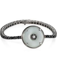 Nadine Aysoy Celeste Black Sapphire And Jade Bracelet
