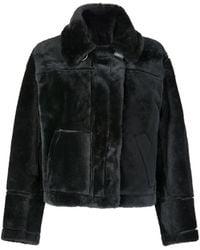Gushlow & Cole Shearling Aviator Jacket - Black