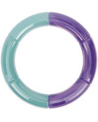 KYOTO TANGO Hemispherical Beaded Resin Bracelet - Purple
