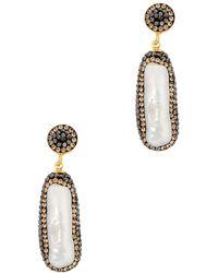 Soru Jewellery Baroque Pearl 18kt Gold-plated Earrings - Metallic