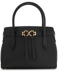 Kate Spade Toujours Medium Leather Top Handle Bag - Black
