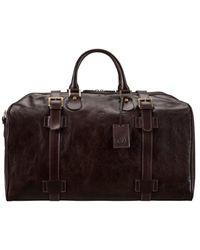 Maxwell Scott Bags Choc Men's Travel Bag In Brown