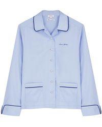 Love Stories Joe Blue Cotton Pyjama Shirt