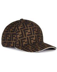 Fendi Striped Zucca Logo Jacquard Knit Wool Skull Hat in Brown for ... c52021b0046