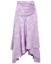 Peter Pilotto   Lilac Handkerchief Jacquard Skirt   Lyst