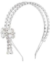 Alessandra Rich Crystal-embellished Headband - Metallic