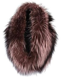 Lilly E Violetta   Light Pink And Brown Fox Fur Snood   Lyst