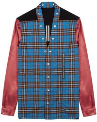 Rick Owens Checked Panelled Shirt - Blue