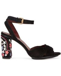 See By Chloé Ƒâ Black Embroidered Suede Sandals
