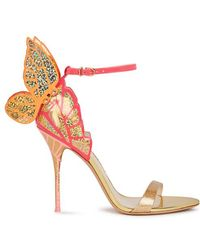 Sophia Webster - Chiara Glittered Winged Leather Sandals - Lyst
