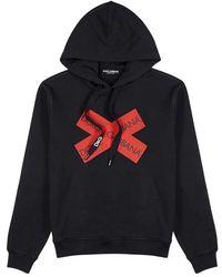 Dolce & Gabbana - Black Printed Cotton Sweatshirt - Lyst