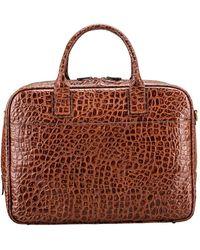 Maxwell Scott Bags Choc Men's Briefcase In Brown