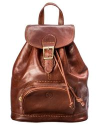 Maxwell Scott Bags - Rich Chestnut Tan Leather Rucksack For Women - Lyst