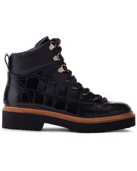 Jigsaw Fitzroy Trek Boot Leather - Black