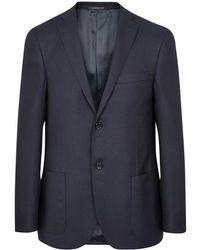 Corneliani - Navy Super 110's Virgin Wool Blazer - Lyst