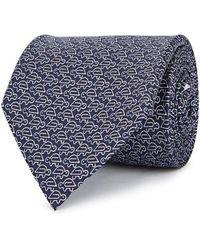 Ferragamo - Navy Turtle-print Silk Tie - Lyst
