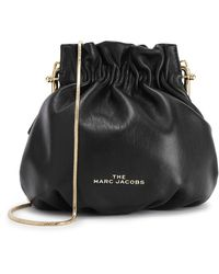 Marc Jacobs The Soiree Black Leather Bucket Bag