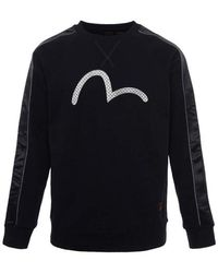 Evisu - Seagull Embroidered Sweatshirt With Raglan Sleeves - Lyst