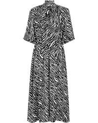 Magda Butrym - Zebra-print Silk Maxi Dress - Lyst