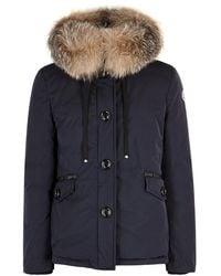 Moncler - Malus Fur-trimmed Shell Jacket - Lyst