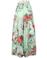 Alice McCALL Secret Garden Cotton-blend Trousers - Multicolour