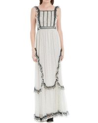 Max Studio - Printed Chiffon Long Dress - Lyst