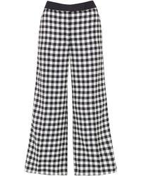 Amanda Wakeley Check Wide Culotte Check Tailoring White Multi