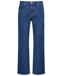 Elizabeth and James - Holden Two-tone Straight-leg Jeans - Lyst