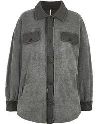 Free People Ruby Gray Fleece Jacket