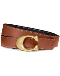 COACH Brown And Black Reversible Leather Belt