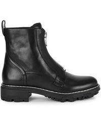Rag & Bone - Shiloh Black Leather Ankle Boots - Lyst