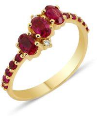 GFG Jewellery by Nilufer Seraphina Trio Ring - Metallic