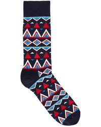 Happy Socks - Temple Cotton Blend Socks - Size One Size - Lyst