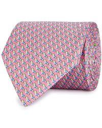 Ferragamo - Horse-print Silk Twill Tie - Lyst