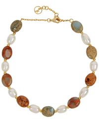Anissa Kermiche Serpent Beaded Gold-plated Anklet - Metallic