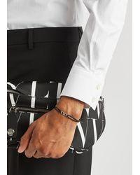 Valentino Garavani Vlogo Black Cord Bracelet